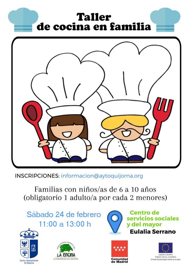 Cartel taller cocina ayuntamiento de quijorna - Carteles de cocina ...